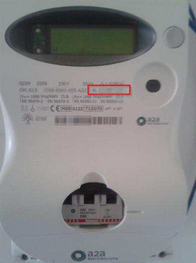 Dove si trova matricola contatore gas e elettricit for Contatore luce