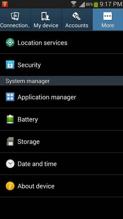 Disattivare Overlay Schermo Samsung S5 Neo Powermall
