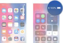 Come vedere la percentuale batteria su iPhone X